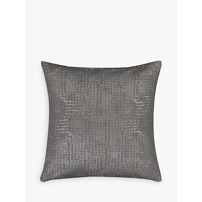 John Lewis Loki Squares Cushion, Steel