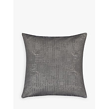Buy John Lewis Loki Squares Cushion, Steel Online at johnlewis.com