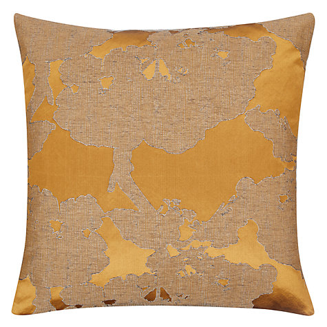 Buy John Lewis Komako Tree Cushion, Gold Online at johnlewis.com