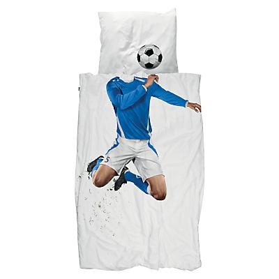 Image of Snurk Footballer Duvet Cover and Pillowcase Set, Single