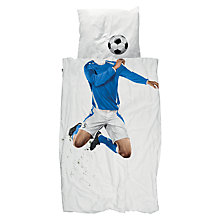 Buy Snurk Footballer Duvet Cover and Pillowcase Set, Single Online at johnlewis.com