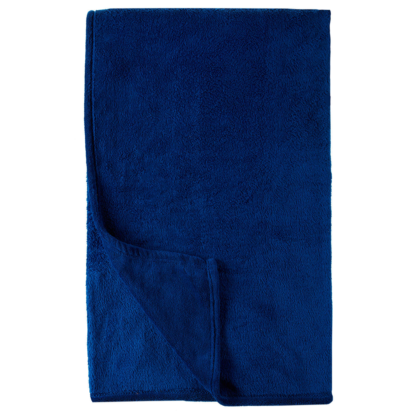 Buylittle home at John Lewis Plain Fleece Throw, Blue Online at johnlewis.com