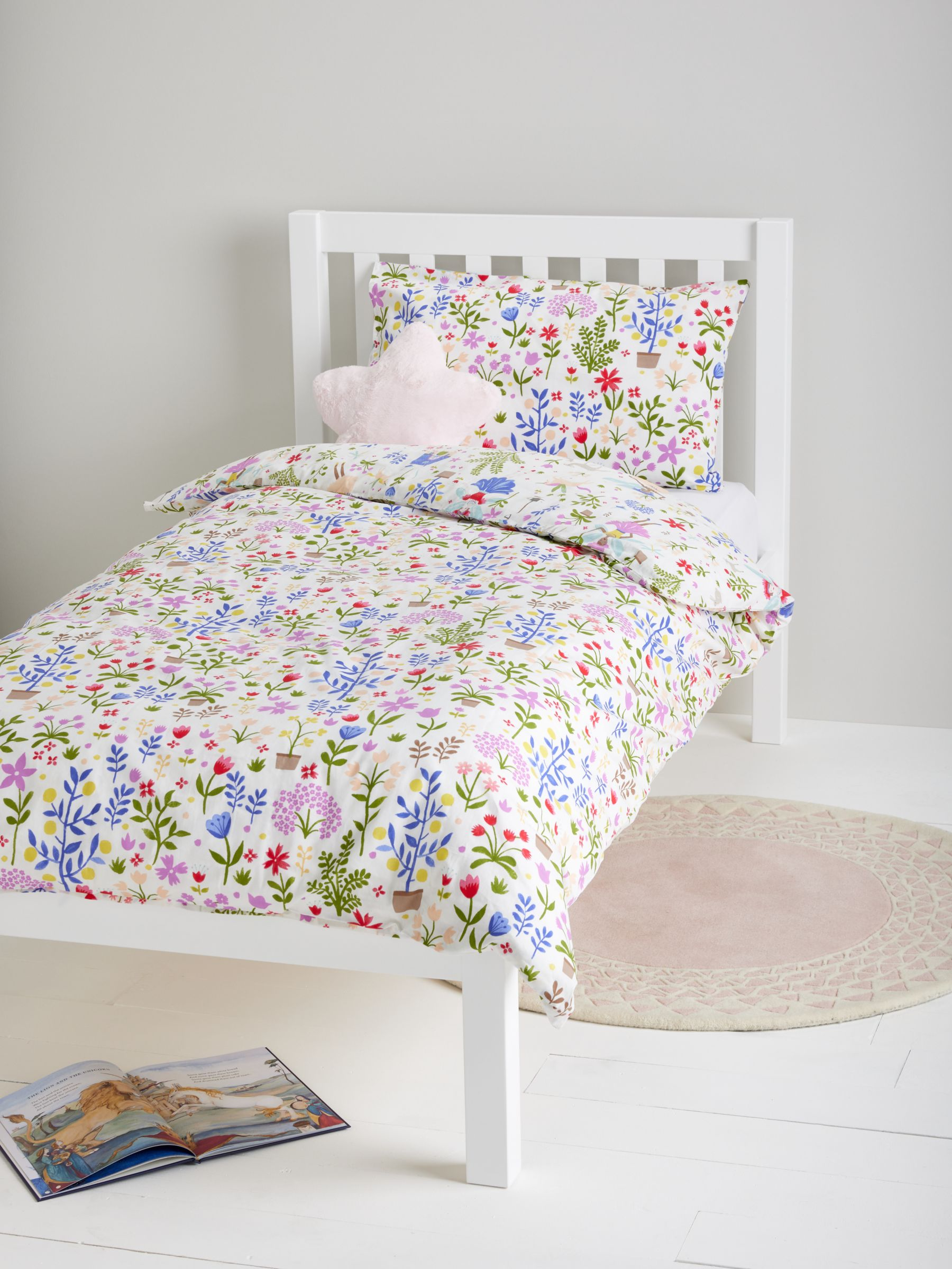 little home at John Lewis Country Fairies Cotton Duvet Cover and Pillowcase Set, Single