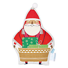 Buy little home at John Lewis Lima Llama 3D Santa Cushion Online at johnlewis.com