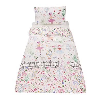 little home at John Lewis Country Fairies Embellished Duvet Cover and Pillowcase Set, Single