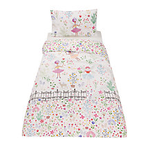 Buy little home at John Lewis Country Fairies Embellished Duvet Cover and Pillowcase Set, Single Online at johnlewis.com
