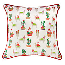 Buy little home at John Lewis Lima Llama Print Cushion Online at johnlewis.com