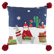Buy little home at John Lewis Lima Llama Embroidered Cushion Online at johnlewis.com