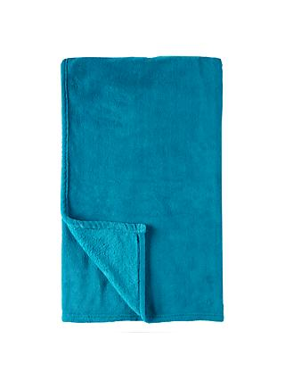 little home at John Lewis Plain Fleece Throw