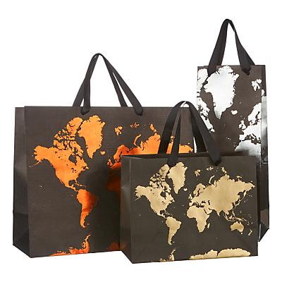 Image of John Lewis & Partners Kraft Map Gift Bag