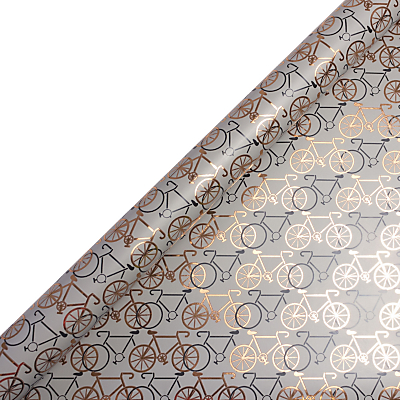Image of Art File Bicycles Gift Wrap, 3m, Copper/Grey
