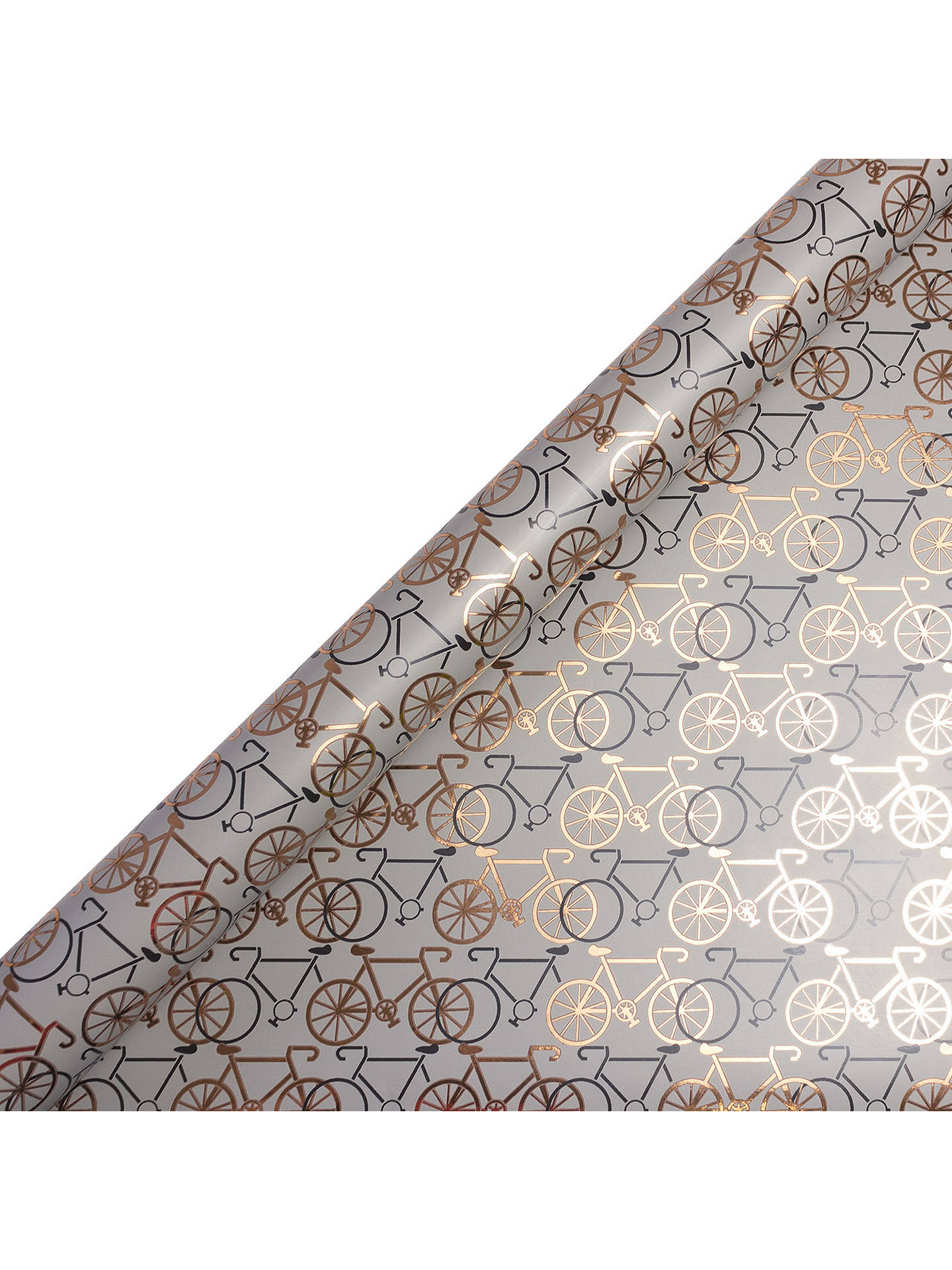 Buy Art File Bicycles Gift Wrap, 3m, Copper/Grey Online at johnlewis.com