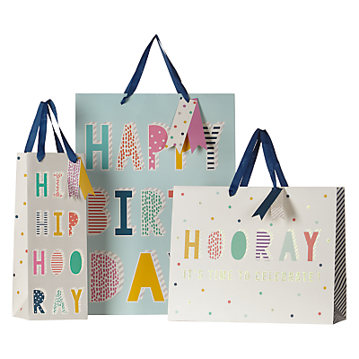 Image of John Lewis & Partners Glitter Text Gift Bag