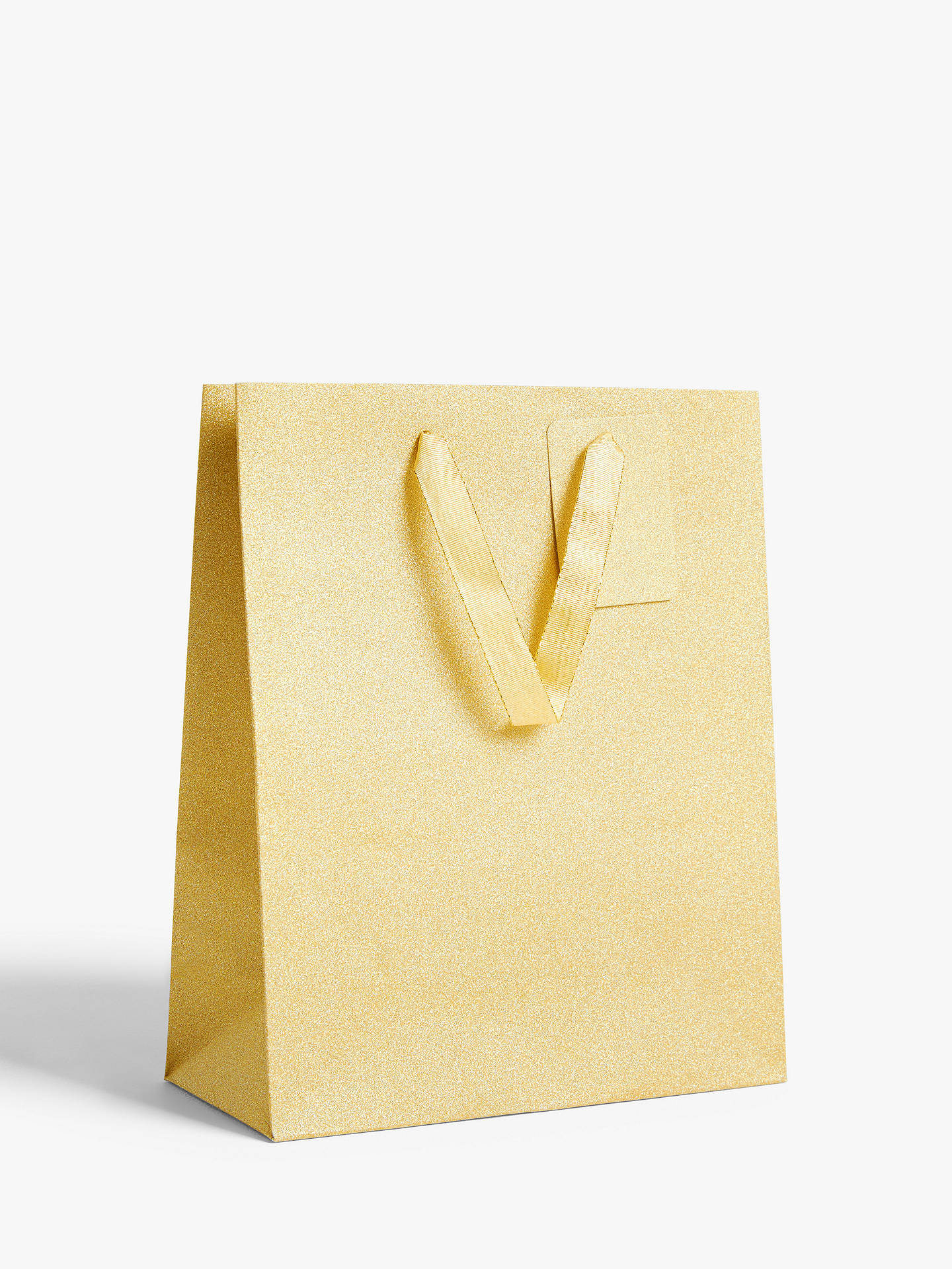 BuyJohn Lewis & Partners Encapsulated Gold Gift Bag, Small Online at johnlewis.com