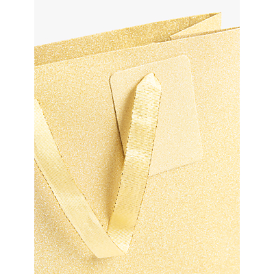 Image of John Lewis & Partners Encapsulated Gold Gift Bag