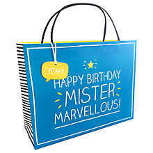 Buy Happy Jackson Mr Marvellous Gift Bag, Shopper Online at johnlewis.com