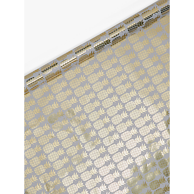 Image of John Lewis & Partners Foiled Pineapple Gift Wrap, 3m