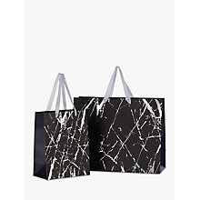 Buy John Lewis Navy Marble Gift Bag Online at johnlewis.com