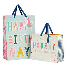 Buy John Lewis Glitter Text Gift Bag Online at johnlewis.com