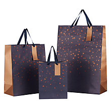 Buy John Lewis Copper Stars Gift Bag Online at johnlewis.com