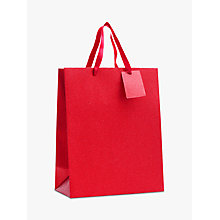 Buy John Lewis Encapsulated Red Glitter Gift Bag, Medium Online at johnlewis.com