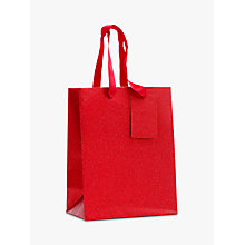 Buy John Lewis Encapsulated Red Glitter Gift Bag, Small Online at johnlewis.com