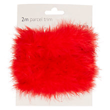 Buy John Lewis Faux Fur Ribbon, 2m, Red Online at johnlewis.com