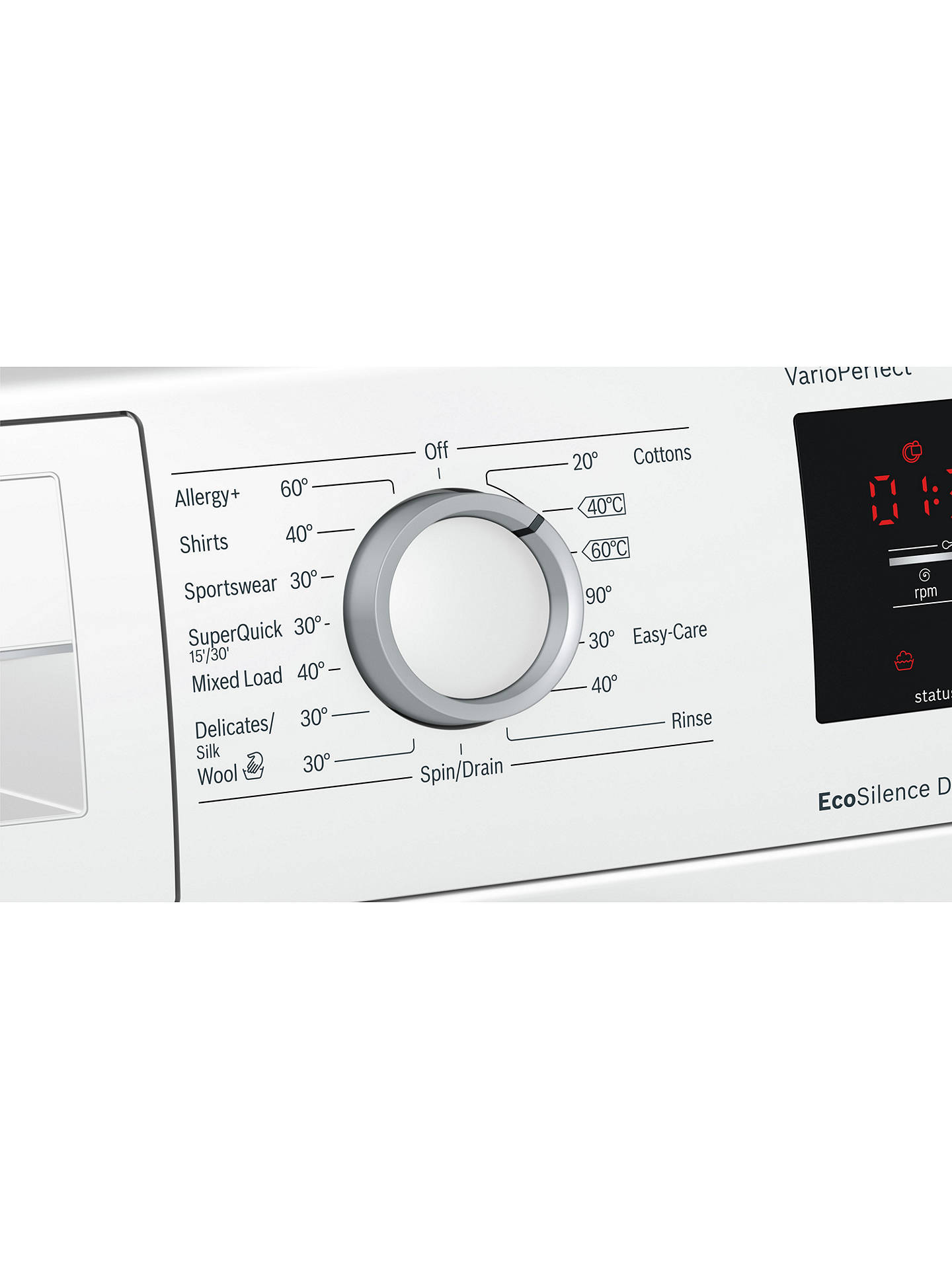 Buy Bosch WAT28371GB Freestanding Washing Machine, 9kg Load, A+++ Energy Rating, 1400rpm Spin, White Online at johnlewis.com