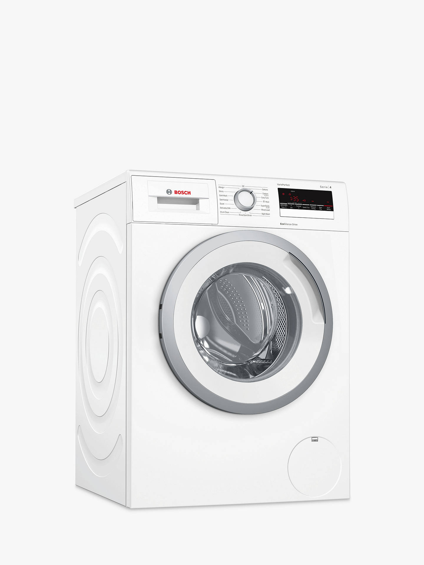 BuyBosch WAN28201GB Freestanding Washing Machine, 8kg Load, A+++ Energy Rating, 1400rpm Spin, White Online at johnlewis.com