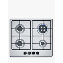 Buy Bosch PGH6B5B60 Gas Hob, Stainless Steel Online at johnlewis.com