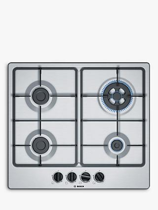 Bosch PGH6B5B60 Gas Hob, Stainless Steel