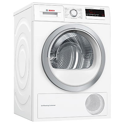 Image of Bosch WTM85230GB Condenser Tumble Dryer with Heat Pump, 8kg Load, A++ Energy Rating, White