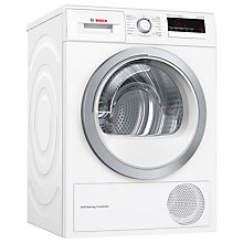 Buy Bosch WTM85230GB Condenser Tumble Dryer with Heat Pump, 8kg Load, A++ Energy Rating, White Online at johnlewis.com