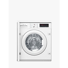 Buy Bosch WIW28500GB Integrated Washing Machine, 8kg Load, A+++ Energy Rating, White Online at johnlewis.com