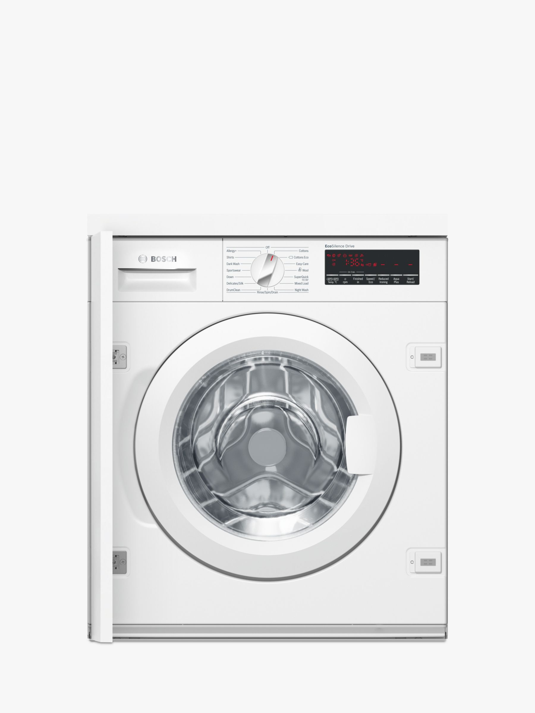 Bosch Bosch WIW28500GB Integrated Washing Machine, 8kg Load, A+++ Energy Rating, White
