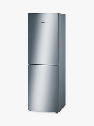 Buy Bosch KGN34VL35G Freestanding Fridge Freezer, A++ Energy Rating, 60cm Wide, Stainless Steel Look Online at johnlewis.com