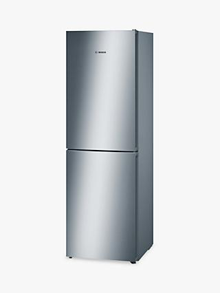Bosch KGN34VL35G Freestanding Fridge Freezer, A++ Energy Rating, 60cm Wide, Stainless Steel Look