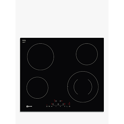 Image of Neff T16FD56X0 59.2cm Touch Control Induction Hob - Black Glass With Bevelled Front Edge
