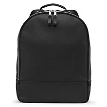 Buy Reiss Bilton Grained Leather Backpack, Black Online at johnlewis.com