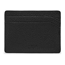 Buy Reiss Hellon Grained Leather Card Holder, Black Online at johnlewis.com