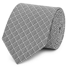 Buy Reiss Iden Geo Pattern Silk Tie, Black/White Online at johnlewis.com