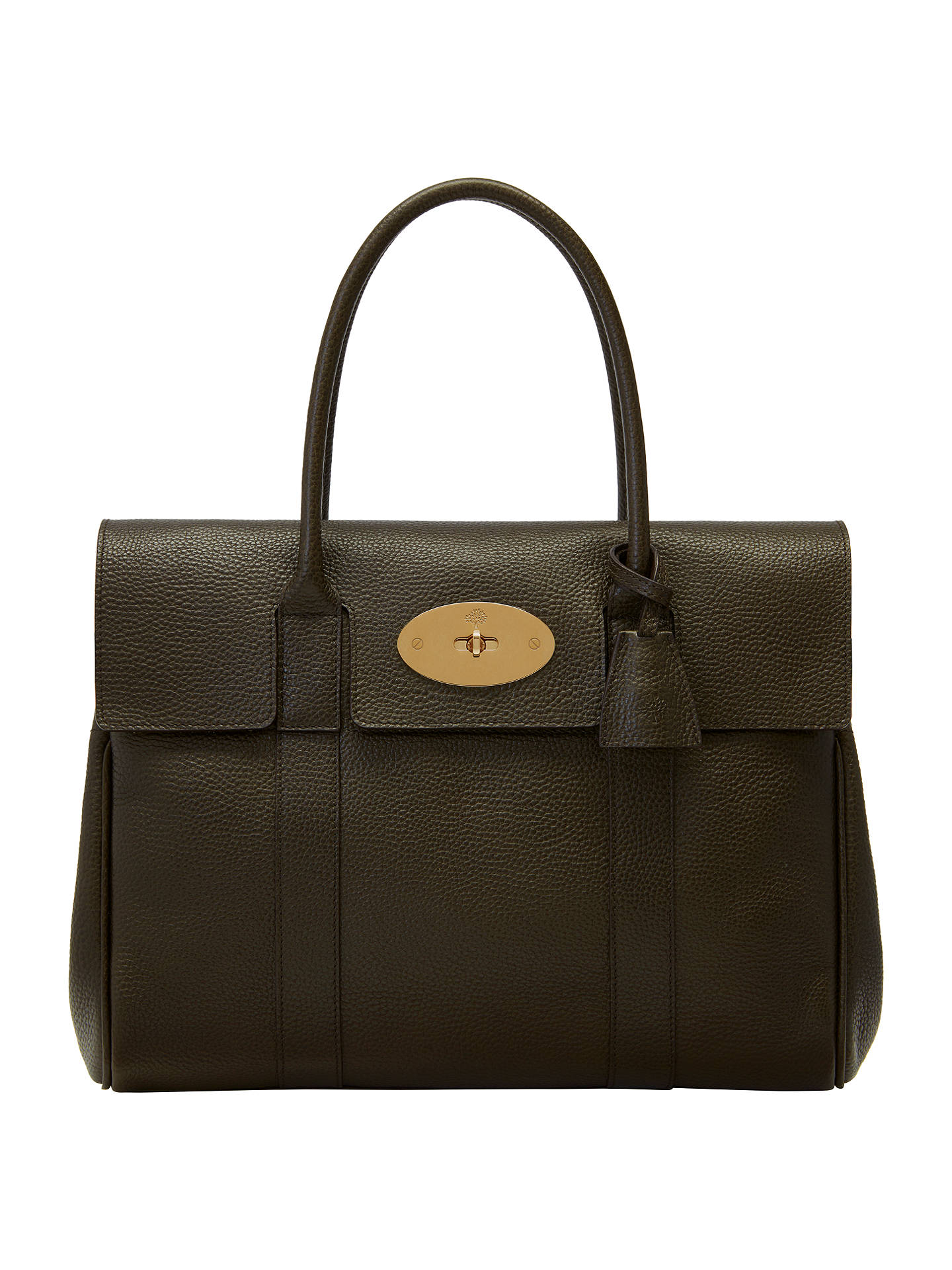 BuyMulberry Bayswater Grained Veg Tanned Leather Grab Bag dd030a40e2566