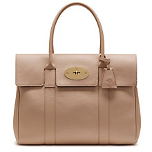 Buy Mulberry Bayswater Small Classic Grain Leather Grab Bag, Rosewater Online at johnlewis.com