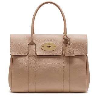 Mulberry Bayswater Small Classic Grain Leather Grab Bag Rosewater