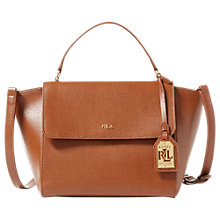 Buy Lauren Ralph Lauren Barclay Leather Crossbody Handbag, Lauren Tan Online at johnlewis.com