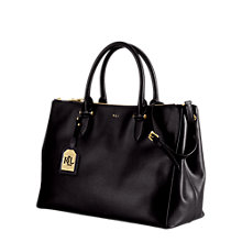 Buy Lauren Ralph Lauren Newbury Double Zip Satchel, Black Online at johnlewis.com
