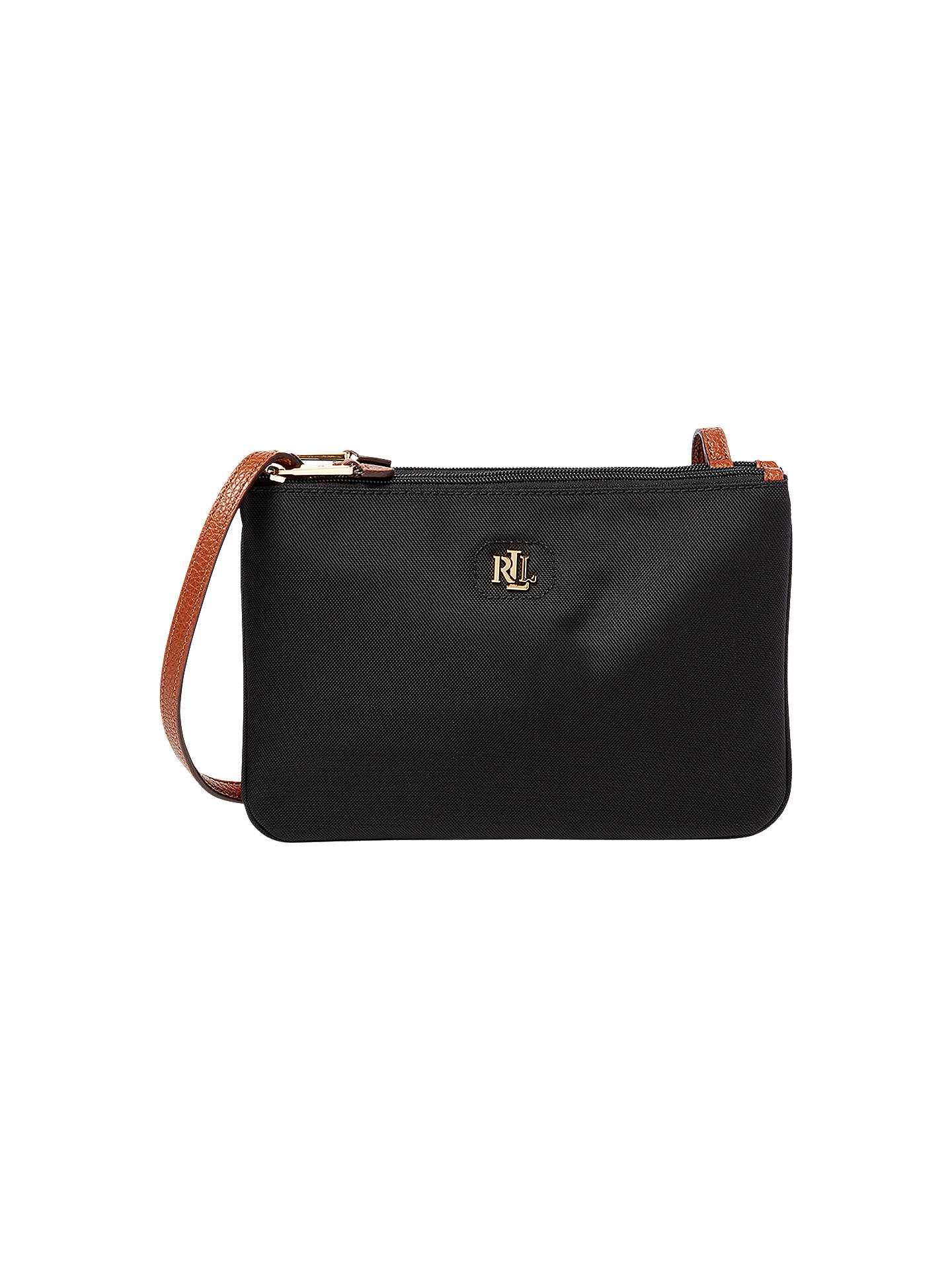 51270afa312 BuyLauren Ralph Lauren Tara Cross Body Bag, Black Online at johnlewis.com  ...