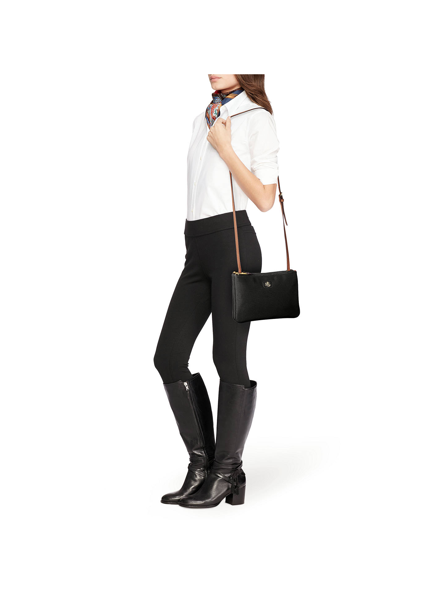 9150045ad74 ... BuyLauren Ralph Lauren Tara Cross Body Bag, Black Online at  johnlewis.com
