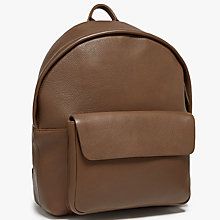 Buy John Lewis Boston Leather Backpack, Chocolate Online at johnlewis.com
