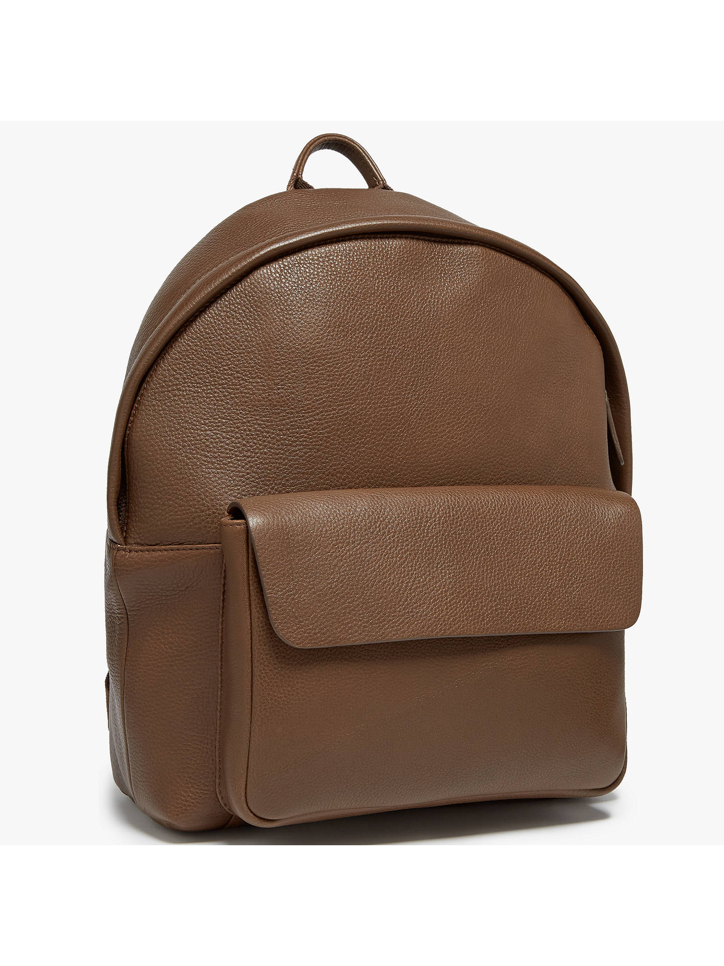 BuyJohn Lewis   Partners Boston Leather Backpack, Chocolate Online at  johnlewis. ... 00eaa96d96